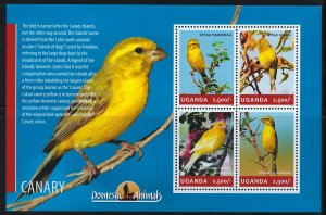 Uganda Scott 2138 MNH! Canary! Sheet of 4!