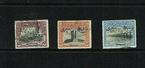 Bahawalpur: : 1945, Official overprints, surcharged,  good used set