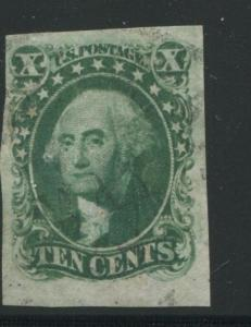 1855 US Stamp #13 10c Used VF Date Canceled Catalogue Value $1360
