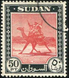 British Sudan SC# 114 Camel Post 50p Used