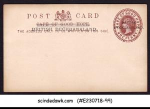 BRITISH BECHUANALAND - 1penny QV POSTCARD OVPT on CAPE OF GOOD HOPE - MINT