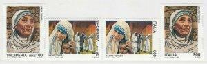 1998 Madre Teresa di Calcutta Congiunta Italia Albania 4 Valori MNH** A20P6F247