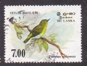 Sri Lanka 1988  used  877  birds 7r. white-eye     #