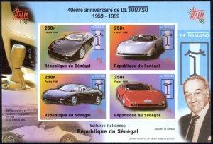 Senegal Sc#1346 MNH Souvenir Sheet IMPERF 1999 De Tomaso Automobiles 40th