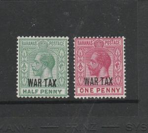 Bahamas 1918 war tax type 11, 1/2d & 1d Fresh MM SG 96/7