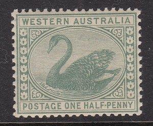 WESTERN AUSTRALIA ^^^^1885   # 58 RARER  MNH  SWAN CLASSIC  $$@lar1820wa