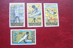 Ivory Coast 1980 MNH Sport Olympic Games Moscow