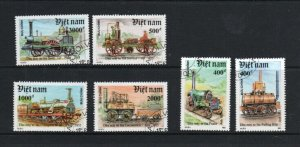 VIET NAM #2267-2273  1991  LOCOMOTIVES    MINT VF NH O.G  CTO