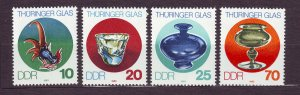 J23267 JL stamps 1983 DDR germany set mnh #2379-82 glass