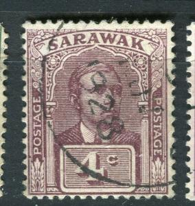 SARAWAK; 1918 early C. Brooke issue fine used 4c. value