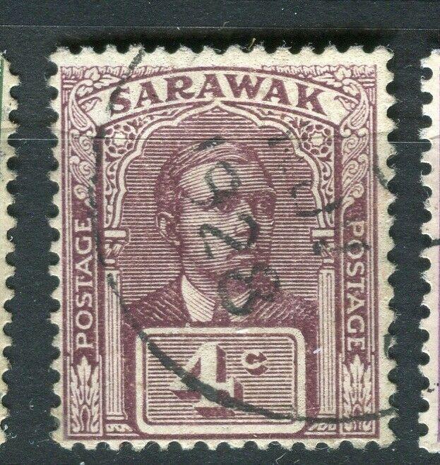SARAWAK; 1918 early C. Brooke issue fine used 4c. value