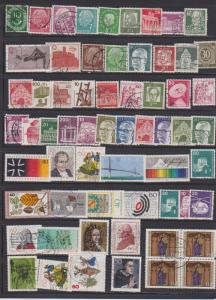 LOT OF DIFFERENT STAMPS OF GERMANYI USED (62) LOT#131