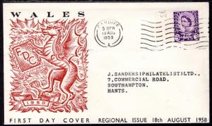 Great Britain Wales 1 Typed FDC