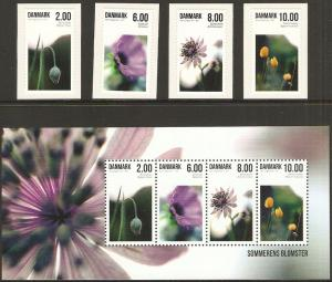 2011 Denmark Scott 1544-8 Summer Flowers MNH