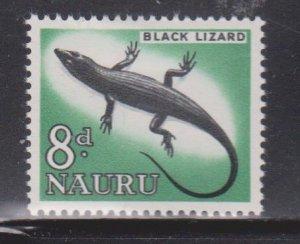 NAURU Scott # 52 MH - Black Lizard