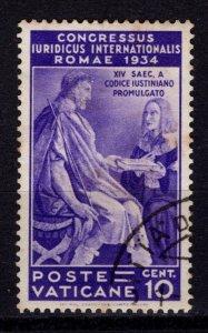 Vatican City 1935 International Juridical Congress, 10c [Used]