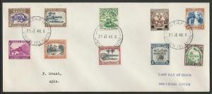 TOKELAU IS 1948 cover last day of use Samoa Stamps, Atafu cds..............10050