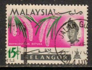 Malaya-Selangor  #126  used  (1965)