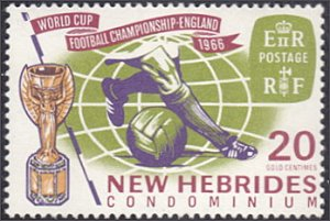 New Hebrides - British # 116 mnh ~ 20¢ World Cup Soccer