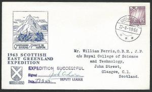 GREENLAND 1963 Scottish Expeditiion signed cover...........................48551