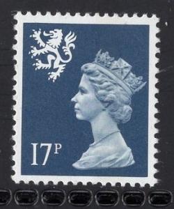 Great Britain Scotland  #SMH32  MNH Q E II  17p dark blue Machin