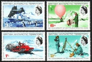 British Antarctic Territory 20-23, MNH. Scientific works in the Antarctic, 1969