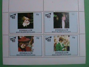 SCOTLAND STAMP-1997-DIANA- PRINCESS OF WALES -YOUNG DIANA-MINT-NH  S/S  SHEET #2