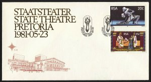 wc015 RSA South Africa State Theatre Pretoria  May 23, 1981 FDC first day cover