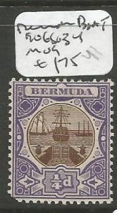 Bermuda Boat 1906 SG 34 MOG (3cho)