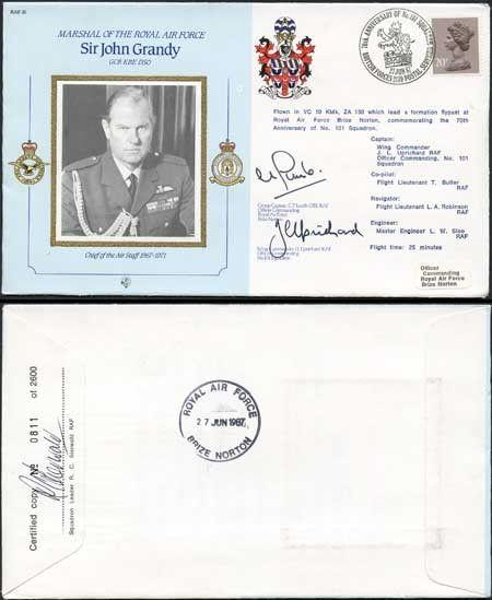 CDM16a RAF COMMANDER Sir J.Grandy signed Gp Capt Lumb and Wg Cdr Uprichard