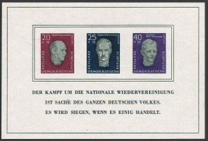 Germany-GDR B35a sheet,MNH.Michel Bl.15.Ernst Thalmann,R.Breitscheid,P.Schneider