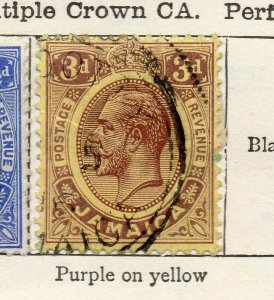 Jamaica 1912 Early Issue Fine Used 3d. NW-114307
