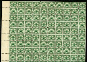 UNITED STATES Scott #C4 SHEET OF 100 MINT NEVER HINGED WITH SEPARATIONS