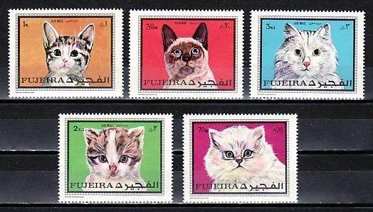 Fujeira MNH 588-92A Cute Cats MEOW!!!!!!