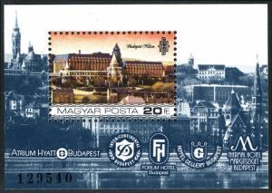 Hungary MNH S/S 2869 Riverside Budapest Hilgton Hotels 1984