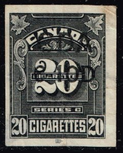 CANADA STAMP 20 CIGARETTE TAX PAID STAMP