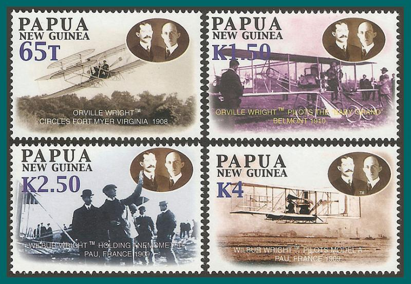 Papua New Guinea MNH 1084-7 Powered Flight 2003