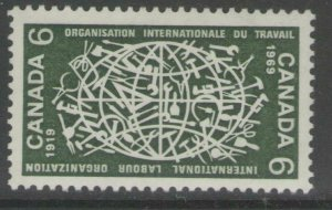 CANADA SG635 1969 ANNIV OF INTERNATIONAL LABOUR ORGANISATION MNH