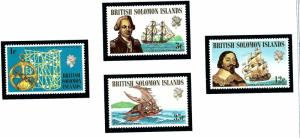 Solomon Is 214-17 MNH 1971 Explorers and Ships