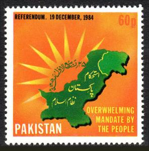 Pakistan 644, MNH. Referendum reinstating Pres. Zia, 1985