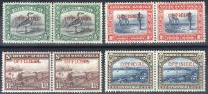 South West Africa 1945 1/2-6d OFF PAIRS SGO18-O22exO21 ScO18-O22 MLH Cat£80($105
