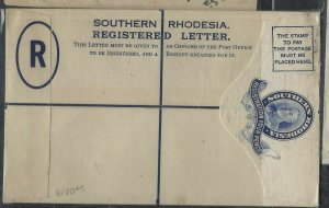 SOUTHERN RHODESIA  COVER  (P1002BB)  KGV 4D RLE UNUSED