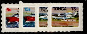 TONGA QEII SG813-816, 1982 inter-island transport set, NH MINT.