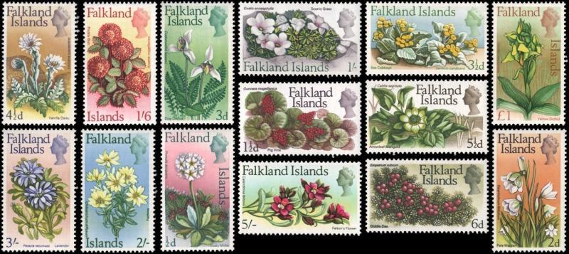 Falkland Islands 166-179 mnh