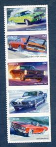 4743-47 Muscle Cars Strip Of 5 Mint/nh Free  Shipping