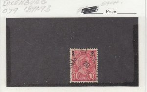 J25798  jlstamps 1895 luxembourg used #o79 ovpt perf 12 1/2