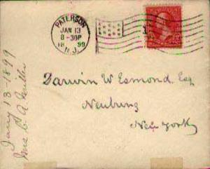 United States, First Bureaus, Flags, Machine Cancel, New Jersey