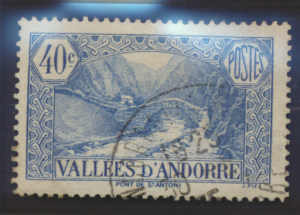 Andorra (French Administration) Stamp Scott #33, Used - Free U.S. Shipping, F...