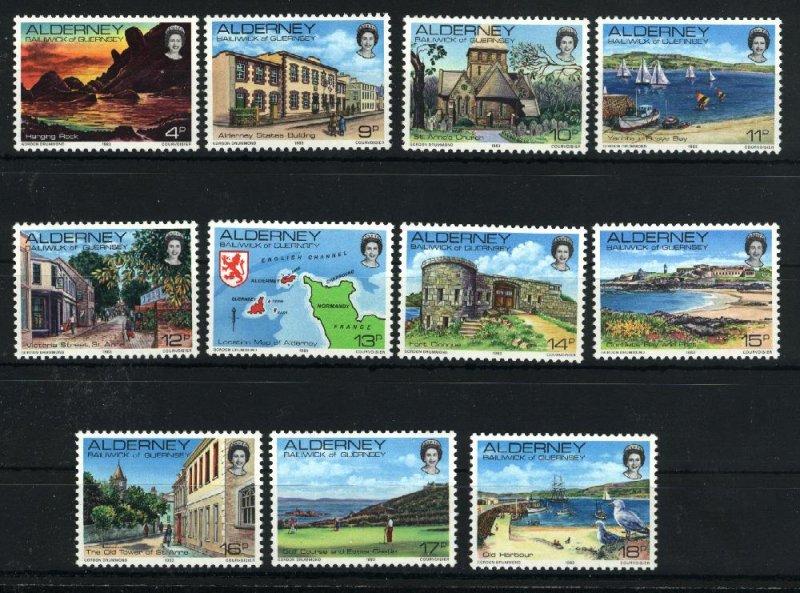 Alderney #2-12   Mint NH VF 1983 PD