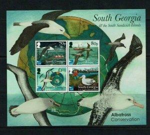 South Georgia: 2017, Albatross Conservation,  miniature sheet, MNH